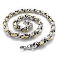 Fashion jewelry  Stainless Steel   Necklace Classic Golden   Twisted Singapore  Chains Necklaces  N21505