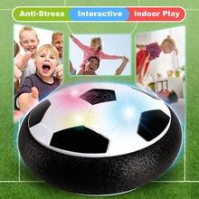 Sjov fodbold legetøj spil LED lys blinkende bold legetøj til dreng luften strøm fodbold bolde stress ball kid dreng husdyr indendørs verdensmesterskab