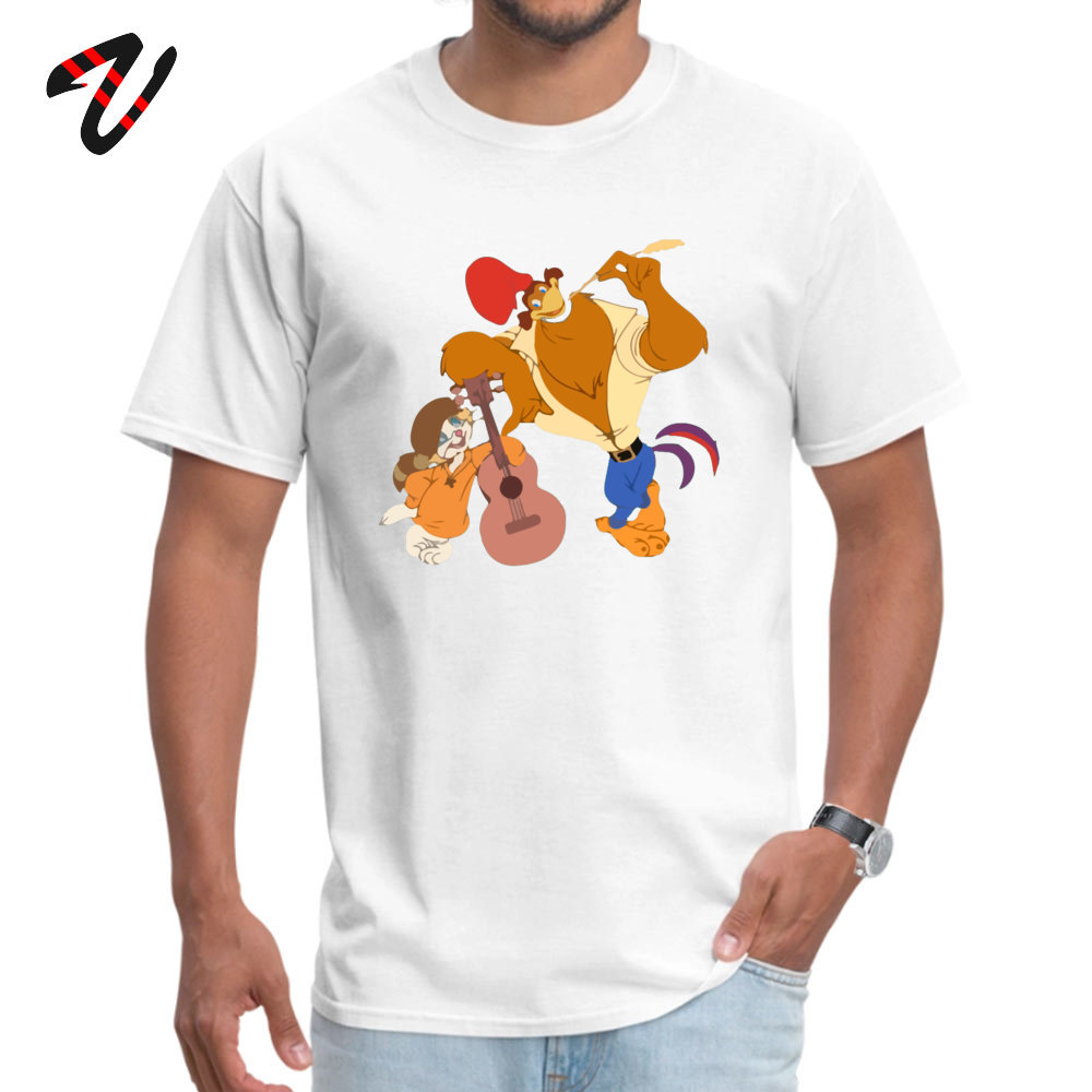 RockaDoodle 2018 comfortable T Shirt O-Neck Thanksgiving Day Cotton Short Sleeve Tshirts for Men Crazy T Shirts Rock-a-Doodle -19547 white