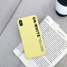 Hard PC Plain Cases Shell Cover For iphone 7 8 Plus X XR XS Max iPhone 6S Phone Anti-fingerprint Case