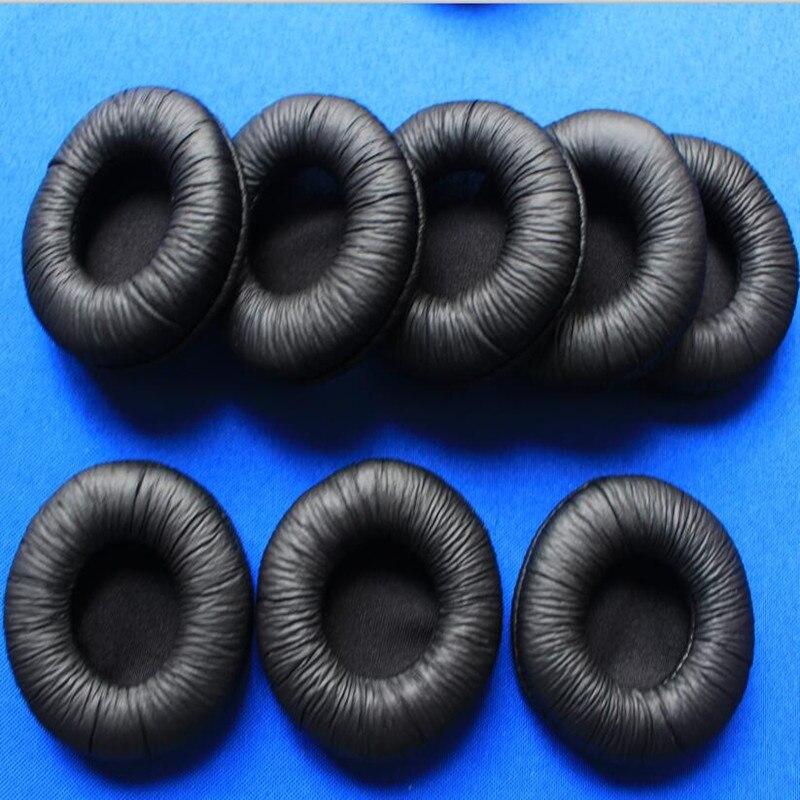 50PCS 60mm Soft Foam Replacement Ear Pads Sponge Durable Cushions 6cm Leatherette Earpads for H8020 Headset Headphones