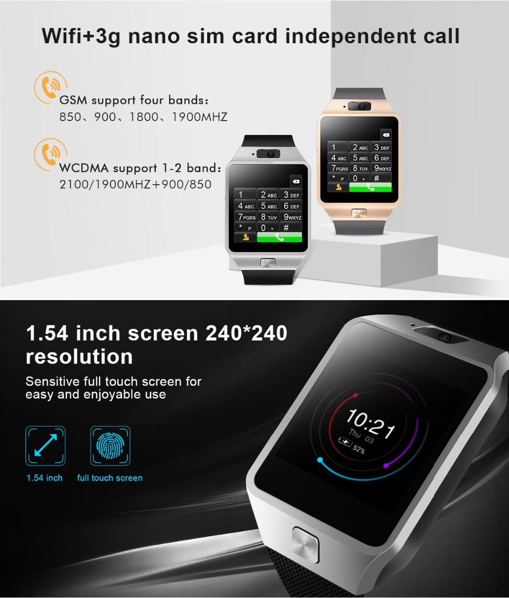 TORNTISC QW09 Unisex 3G Smart Watch For Android Phone With WIFI Real-Pedometer And Calling Benefit 2