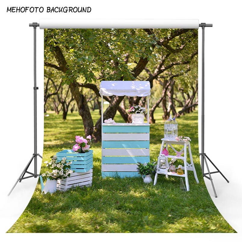 Nature Photography Backgrounds 5x7ft Photo Backdrop Garden White Chair Wedding Studio Props Customized Kids Outdoor Photoshoot