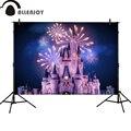 Allenjoy фоны для фотосъемки с красивыми принцессами  замками  ночными фейерверками  вечерние праздничные фоны для детского праздника