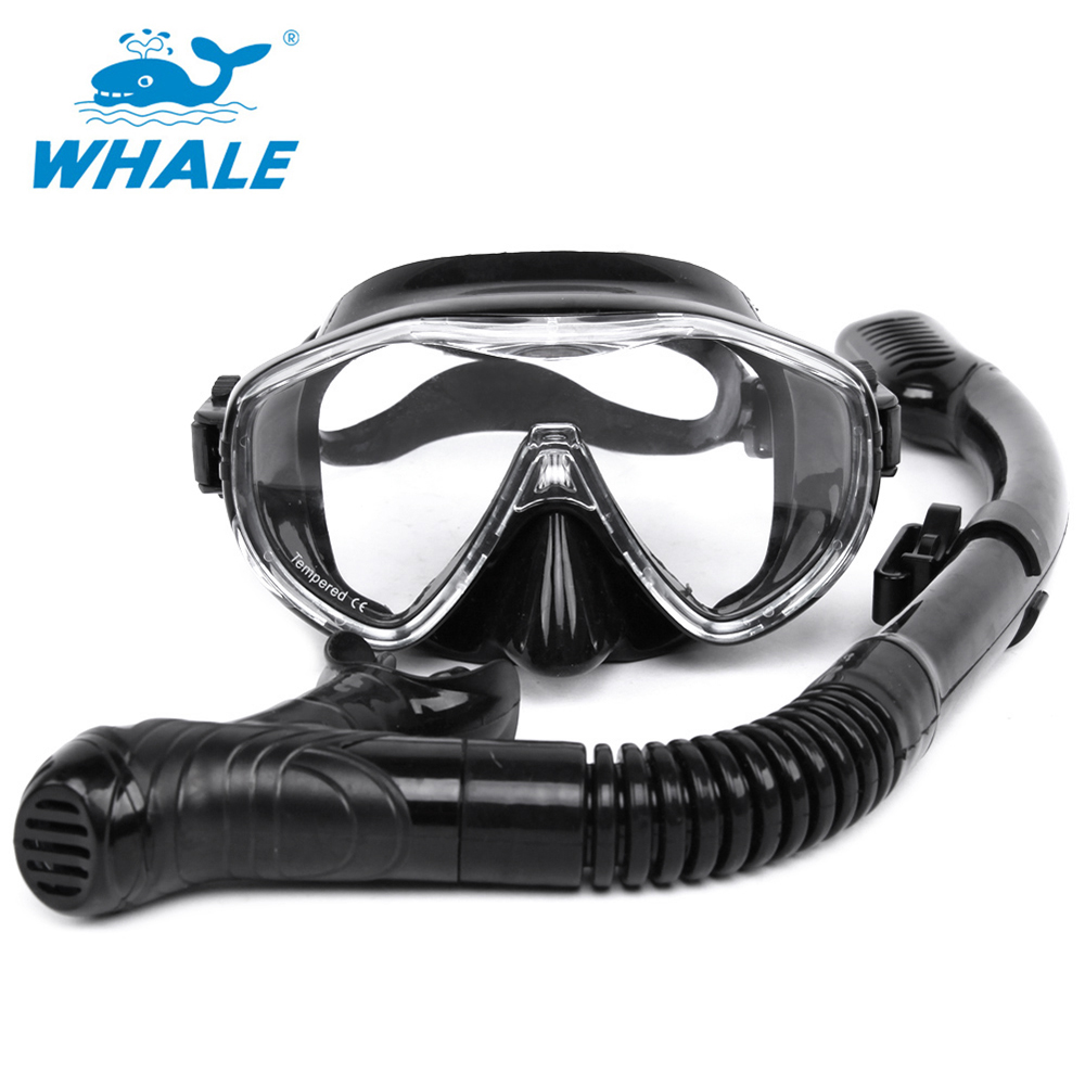 Water Snorkeling Mask Snorkel Set Anti Fog Underwater Scuba Diving Silicone Tube Snorkel Mask Swimming Training Diving Mask