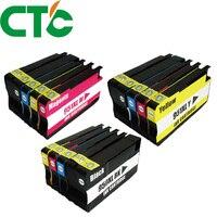 12 упаковок совместимый картридж Замена для чернил 950 951 xl для чернил Officejet Pro 8600 8620 8630 276dw 8640 8660 8615 8625
