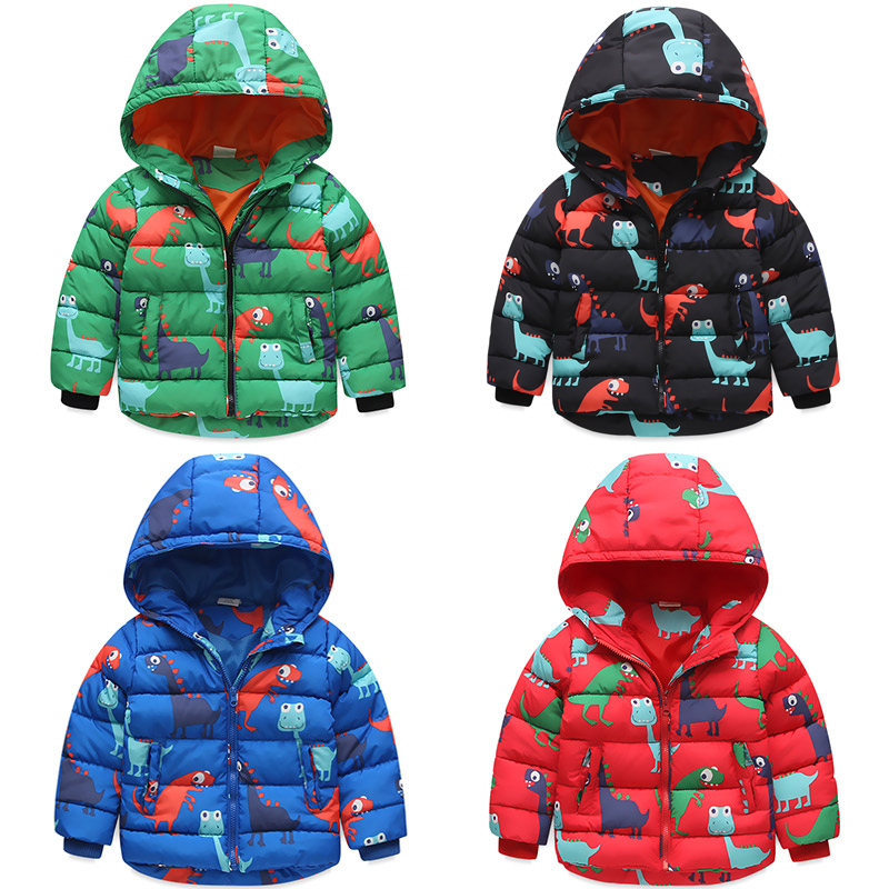 presenting fast delivery premium selection Winter Children Dinosaurs printing Jackets Boys And Girls ...