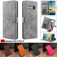 Note 8 Case For Samsung 9 Leather Vintage Phone Cases On Galaxy Flip Magnetic Wallet Cover