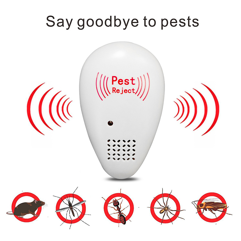 Enhanced Version Electronic Ultrasonic Anti Mosquito Insect Repeller Rat Mouse Cockroach Pest Reject Repellent US Plug Dropship