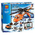 BELA Serie Policial Ciudad Ciudad Aventura Polar Ártico Lift helicóptero Aviones Mini Ladrillos Compatible Bloques de Bloques de Construcción de Juguetes