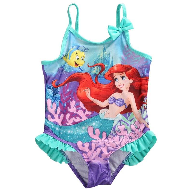 1-4 Years Baby Girls Swimsuits Cartoon Mermaid Costume Swimwear Children One-Piece Swimming Bathing Beach Suit Girls Swimwear B4 costumi moda 2019