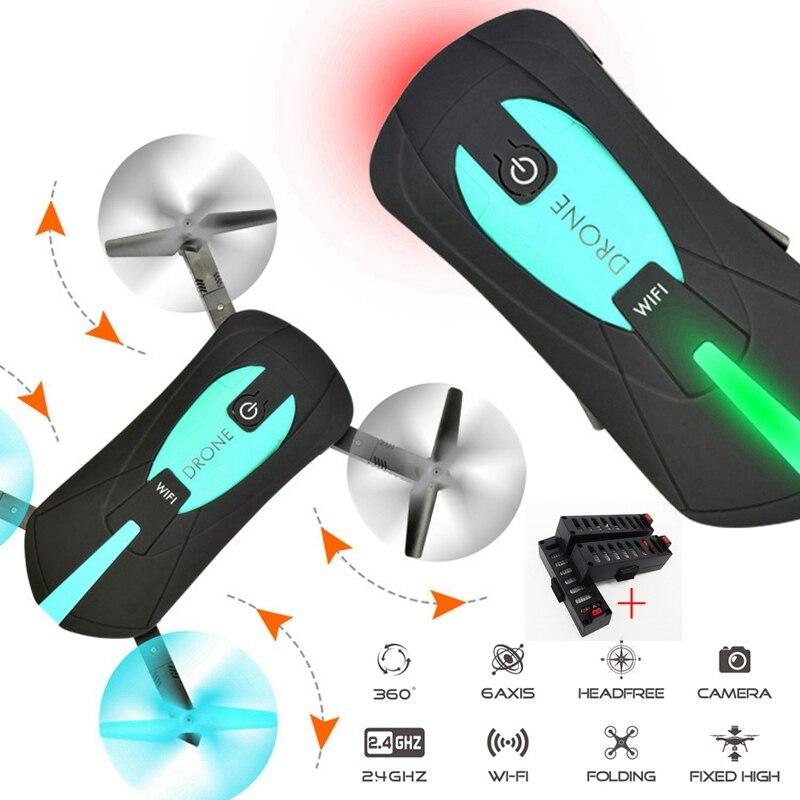 Mini Pieghevole Selfie Drone Elfie Tasca Drone Con La Macchina Fotografica Wifi Rc Elicottero di Controllo Remoto Giocattolo Jy018 Quadcopter