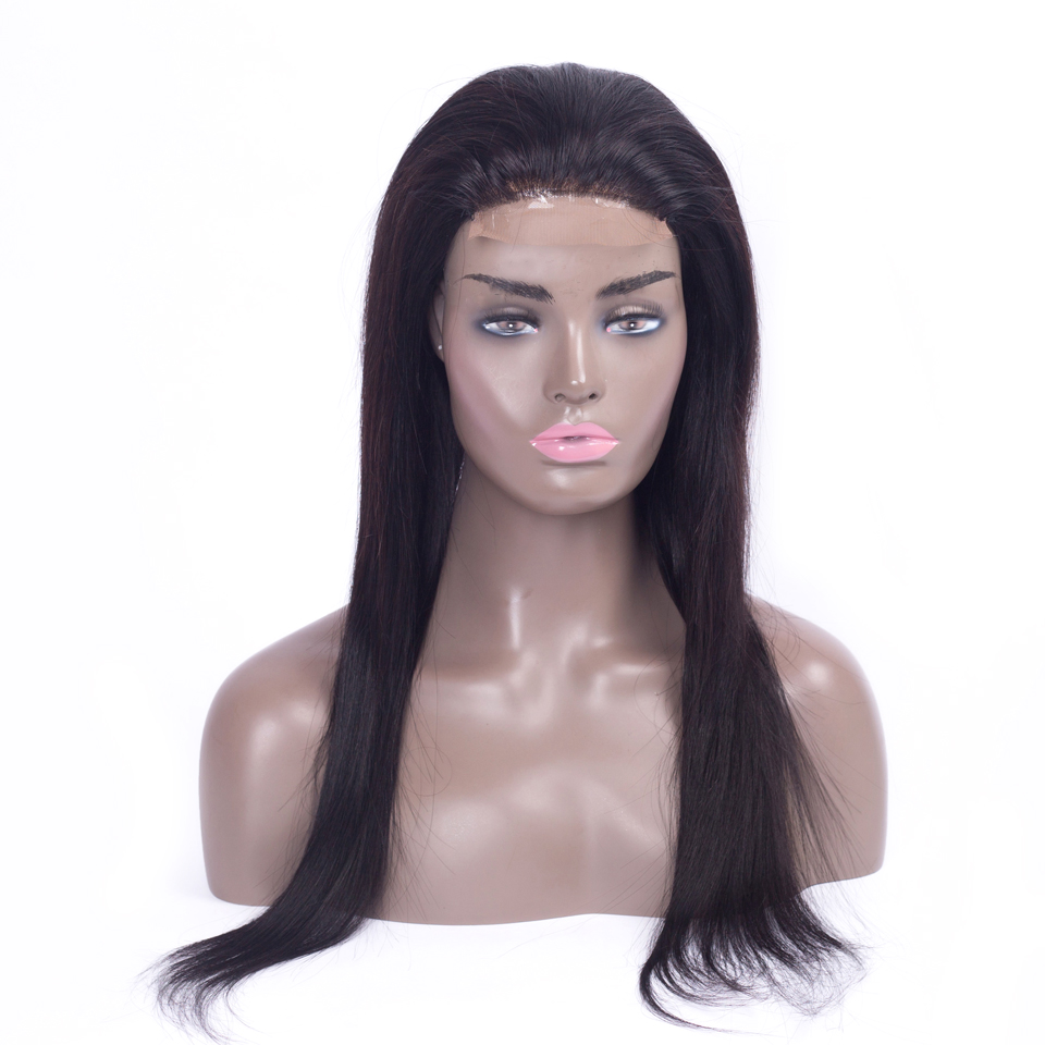 straight lace front wig Peruvian brazilian lace front wigs non remy 4×4 lace front human hair wigs for black women Natural color