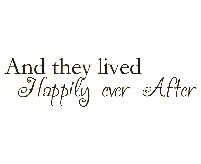 Wall Decal Quote Sticker Vinyl They Lived Happily Ever After