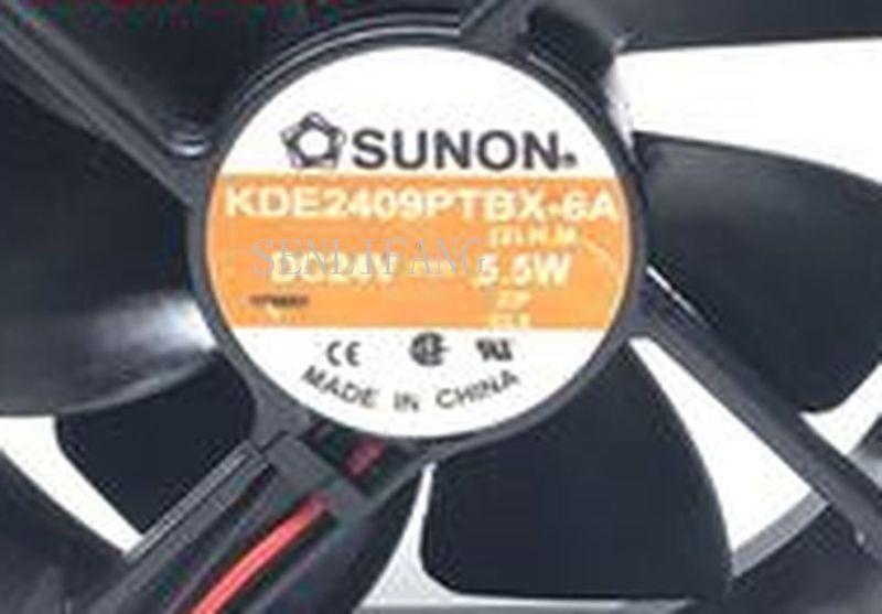 Free Shipping KD2409PTBX-6A DC 24V 5.5W 90x90x25mm 2-wire Server Square Fan