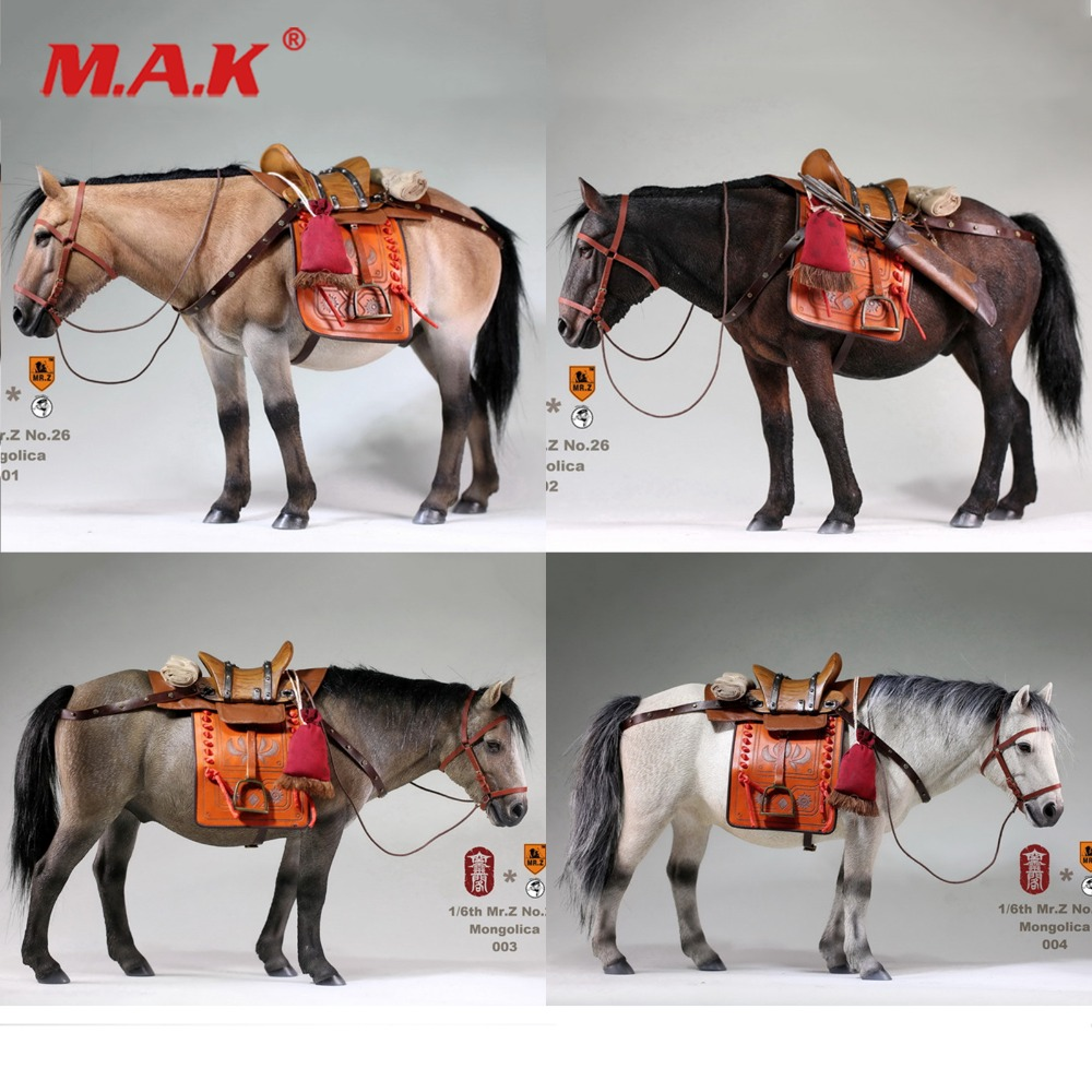 Mr.Z 1/6 Ming Dynasty Series Mongolica Horse Animal Toy Figure Model Collections for 12 inches Action Figure Accessories