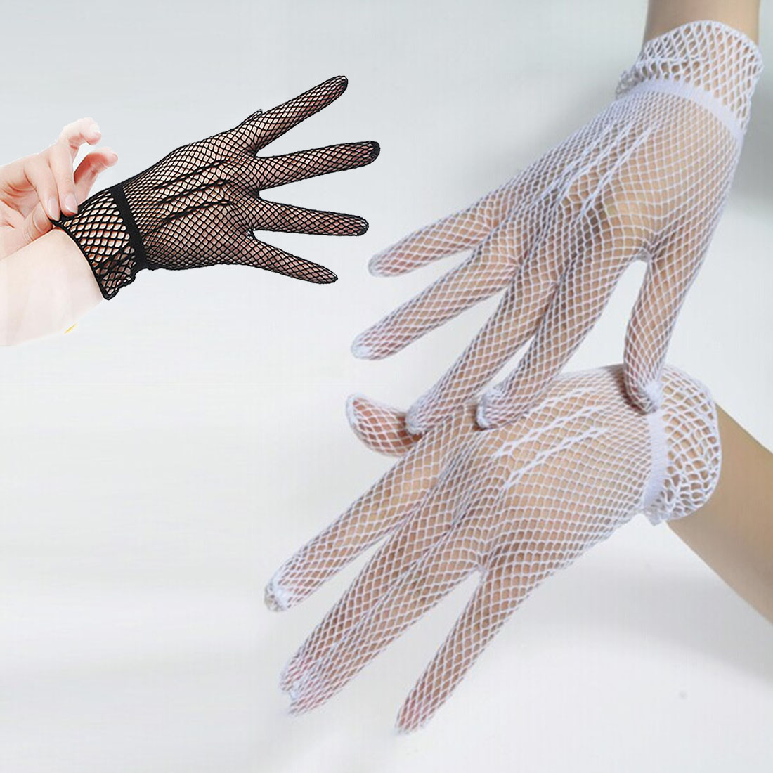 2017 Fashion Top Sell Fishnet Mesh Gloves Fashion Women Gloves Summer  Protection Lace Elegant Lady Style Gloves Foe Woman