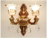Modern European Gold Alloy LED Crystal Sconce Lamp Indoor Wall Lamps With 1 Lights 2 Lights For Bedroom Lighting 100% Guaranteed