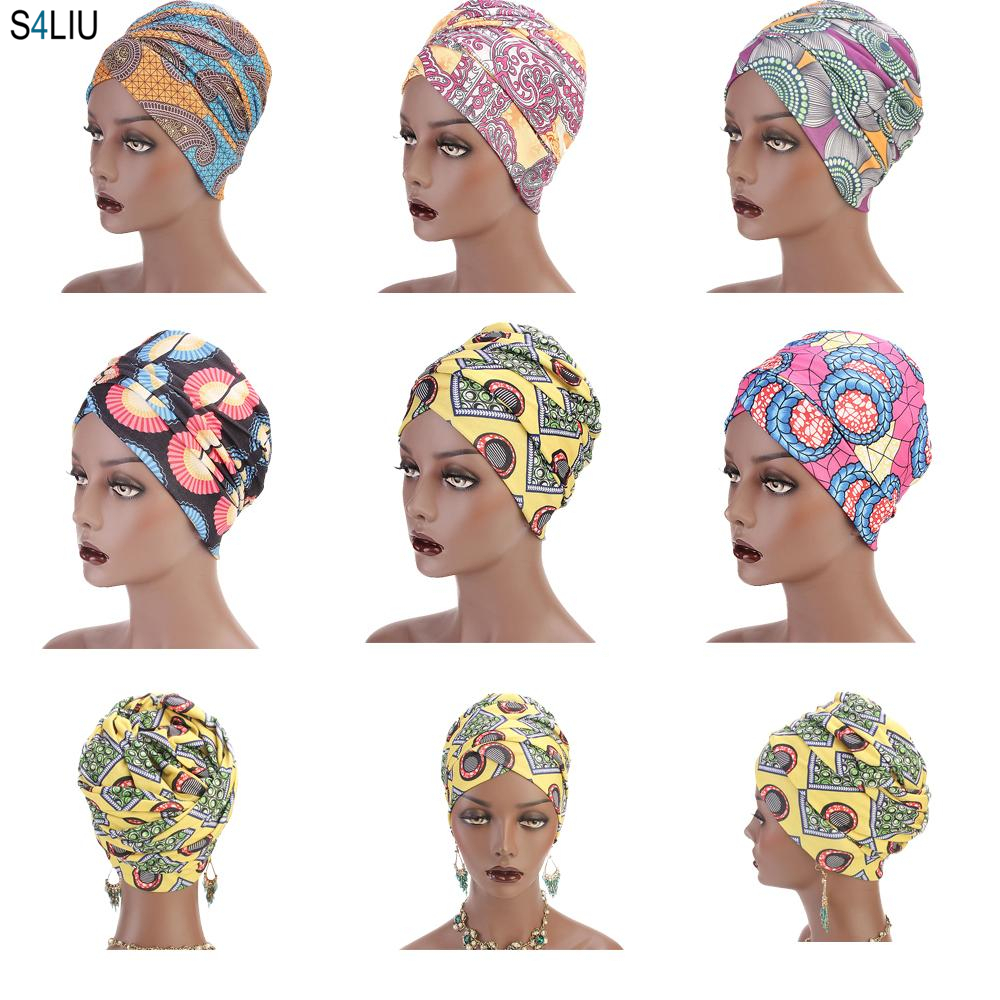 Women Muslim Hijab Islamic Long Scarf Printed Africa Ethnic Turban Arab Bandanas Elastic Hair Loss Shawl Wrap Headscarf 170*26cm