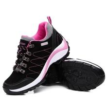 2016 легкая прогулочная обувь Женские Лучшие Походные сапоги для женщин Высота Увеличение походные ботинки брендовые водонепроницаемые туристические ботинки