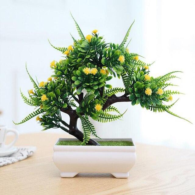 ebbfa6925 Semua Baru Fashion Bunga Plastik Tanaman Buatan Bonsai Pohon Pot Budaya  Miniatur Untuk Meja Kantor Rumah
