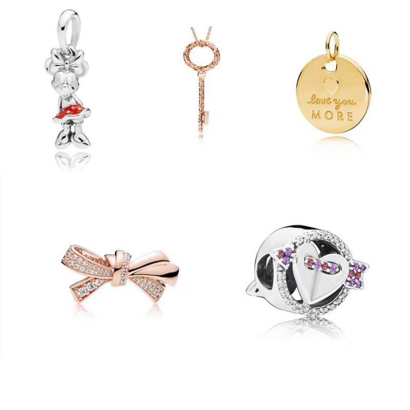 2019 Neue 100% 925 Sterling Silber Charme Valentinstag Geeignet Für Frauen Original Gold Perle Anhänger Schmuck Geschenk Freies Verschiffen