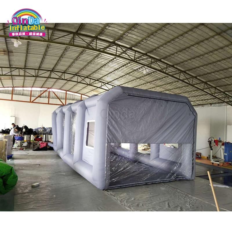 Topnotch Promocyjna cena Szary kolor Inflatabe kabina lakiernicza z filtrem HC21