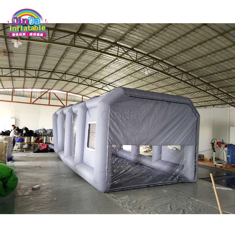 Promotional Price Grey Color Inflatabe spray booth with carbon filter