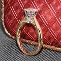 Queen Brilliance 1 Карат кт F Цвет Муассанит Бриллиантовое Обручальное обручальное Кольцо С Акценты 14 К 585 Двухцветное Золото Для женщины