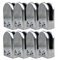 Promotion 8X Stainless Steel Glass Clamp Holder For Window Balustrade Handrail 65 43 26 Mm