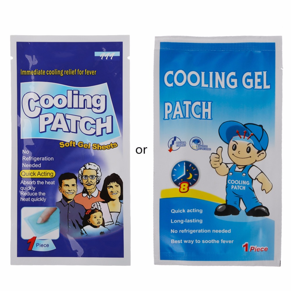 5Pc Baby Kids Medical Grade Hydrogel Fever Reducing Pain Relief Cooling Patch Baby Heat Cooling Sheets image