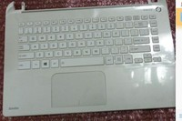 New Keyboard + Top Case for Toshiba Satellite L40 B L40D B US white keyboard with palmrest H000071560 H000068340