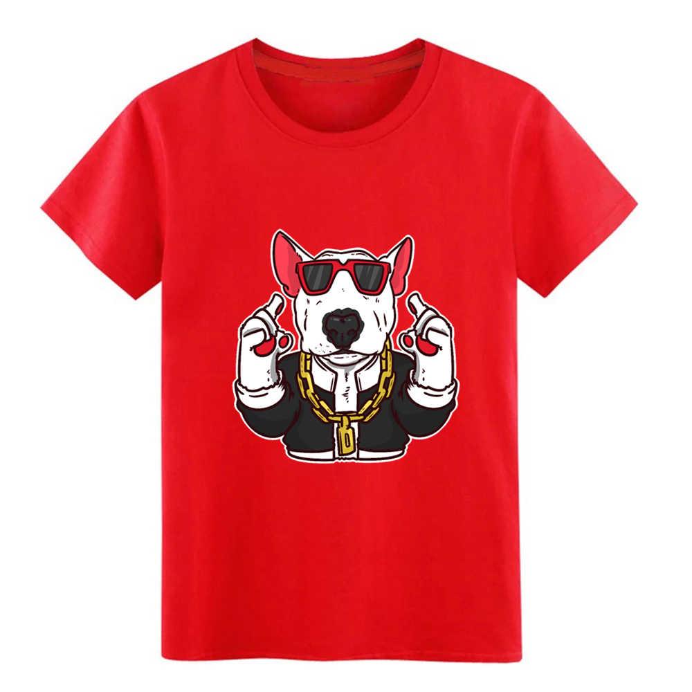 Idéia do presente do cão bulldog beagle óculos colar legal dos homens t impresso camiseta em torno Do Pescoço Letras Bonito Autêntica camisa