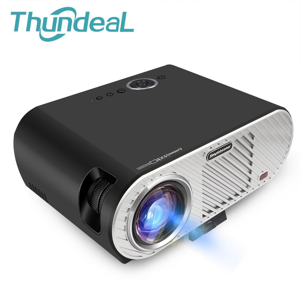 Prix pour ThundeaL 3200 Lumen Projecteur GP90 Lecteur Multimédia Beamer 720 P LED Projecteur LCD pour Home Cinéma Salle de Réunion HDMI VGA USB AV