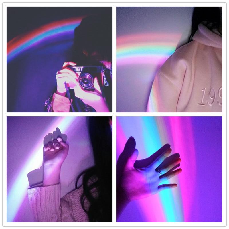 Magical USB LED Lucky Rainbow Projector Room Night Light Color Lamp Magic Romantic Kids Gift P34