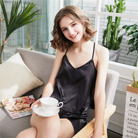 Summer New Sexy Camisole 2 Set Home Furnishing Serve Ma Am Silk Leakage Back The Fragrant