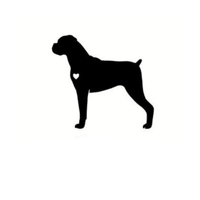 15.2cm*13.9cm Personalized Stylish Dogs Boxer Cute Cartoon Car Window Car Stickers S5-0332