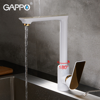 GAPPO Kitchen Faucets White Waterfall Faucet Griferia Wall Mounted Sink Faucet Tap Water Mixer Water Taps