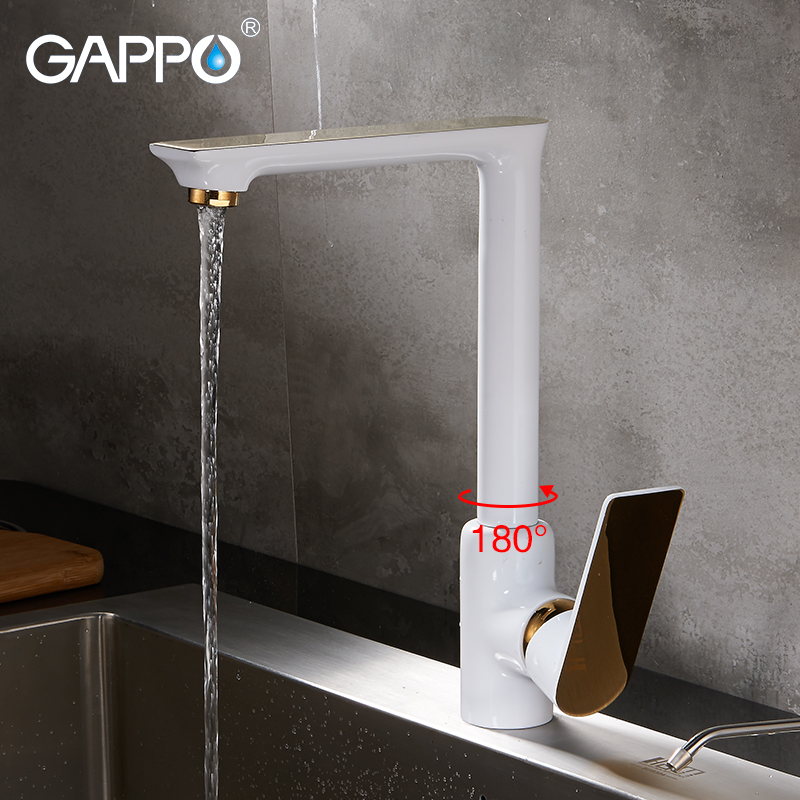GAPPO kitchen Faucets white waterfall faucet griferia wall mounted sink faucet tap water mixer water taps torneira gappo waterfilter taps kitchen faucet mixer taps water faucet kitchen sink mixer bronze water tap sink torneira cozinha ga1052 8