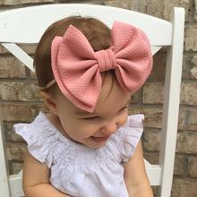 Детская нейлоновая повязка на голову для маленьких девочек Diadema Bebe Recien Nacido, большие нейлоновые Детские Луки, Детская резинка для волос, тюрбан, аксессуары