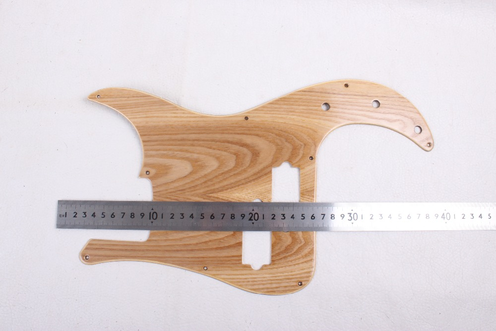 one wood New Electric Bass Guitar pickguard Maple wood P-Bass Guitar parts Hand made#1846 new bassoon c tone great material than maple case bass oboe