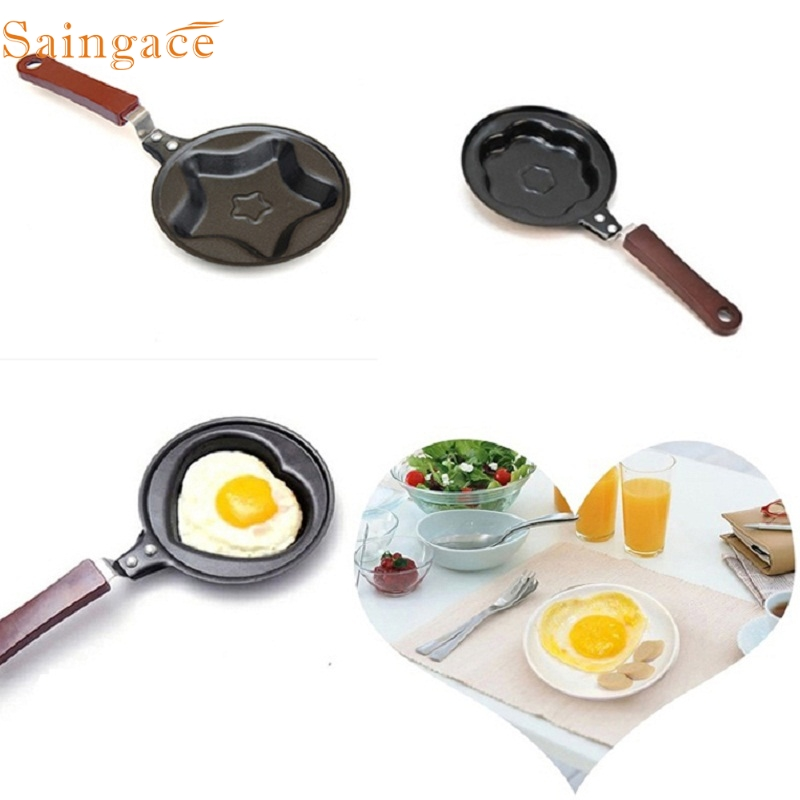 healthy nonstick stainless steel cute shaped egg mould pans mini breakfast egg frying pans cooking - Frying Pans