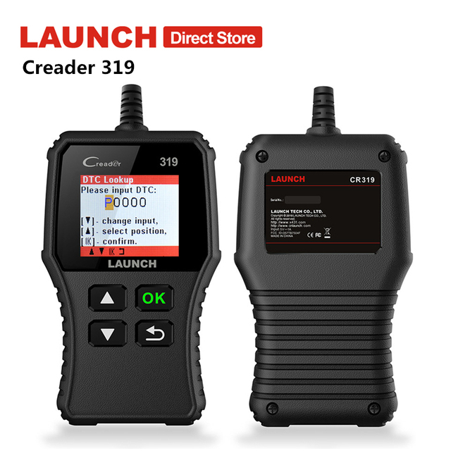 Launch CReader 319 OBD2 Scanner Auto Fault Code Reader Car OBDII Automotive OBD 2 Scaner Code Read PK CReader 3001 CR3001 AD310