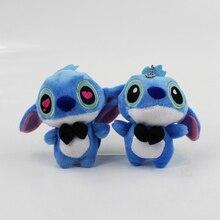 10pcs/lot 15CM Anime Lilo&Stitch Lovely Stitch Plush Toy Soft Stuffed Keychain Pendant Mobile Cell Phone Strap Free Shipping