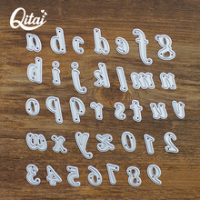 QITAI 26pcs letter and 0-9 number Popular Metal Cutting Dies Scrapbooking for Photo Album Embossing Folder DIY Paper Cards D185