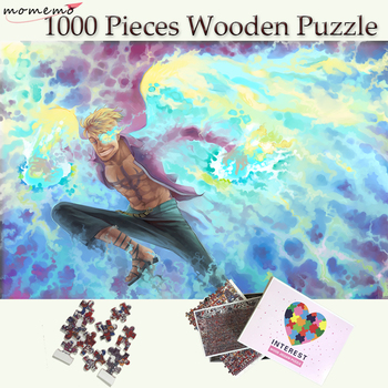 MOMEMO Anime One Piece Wooden Jigsaw Puzzles Marco Phoenix 1000 Pieces Cartoon Puzzle for Adults Children Toys Collectiable Gift