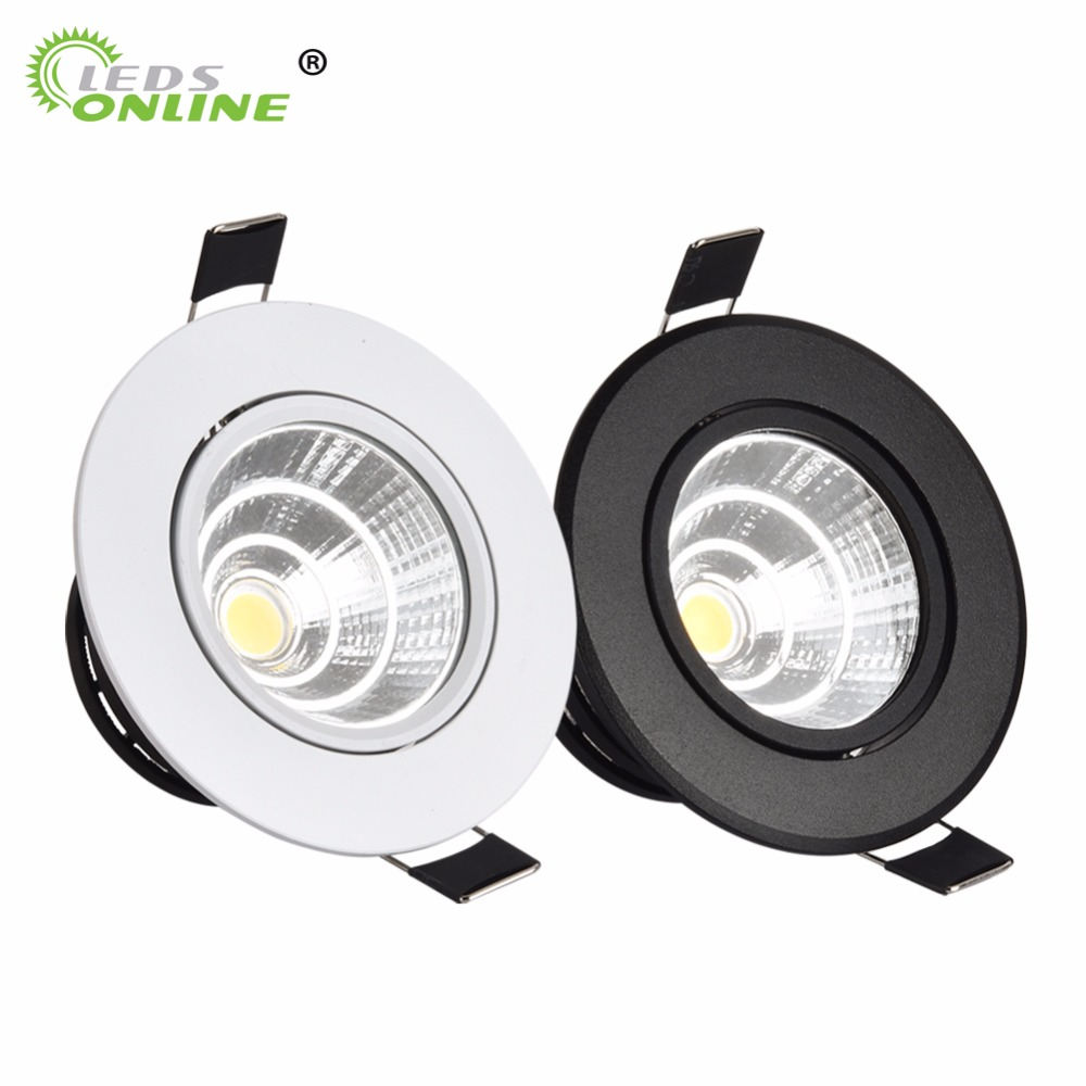 Spot A Encastrable Us 4 84 41 Off Silver White Black Led Spot Encastrable It Downlight Dimmable 3w 5w 7w 10w Recessed Ceighting Light Safty Healthy For Home In