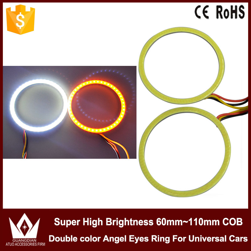 Tcart 80mm Dual color angel eyes ring cob light led cob angel eye ...