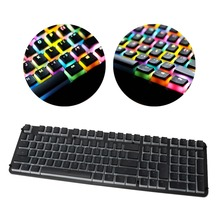 RGB 110 Keycaps Backlit ANSI Layout Add ISO PBT Pudding Double Skin Milk Shot Keycap With Keycap Storage Board For OEM Cherry MX
