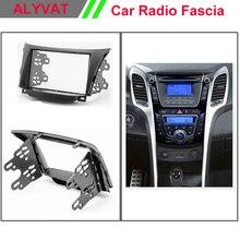 Наивысшего качества авто радио рамки Фризовая установки Переходная отделка 2-DIN Даш Комплект для Hyundai i30 2012 + 2 din